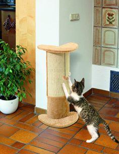 Rascador esquinero para gatos protege paredes