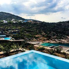 #DaiosCove #Crete #Resort #Villas #spa #VisitGreece #GreekIsland #paradise #luxury #holidays #trip #travel #travelStory #pool #sea #blue #view #privateCove Resort Villa, Thessaloniki, Crete, Places To Visit, Spa, Luxury Holidays, Villas, Gallery, Outdoor Decor