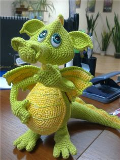 crochet dragon