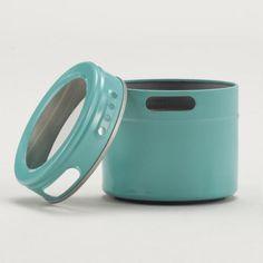 Aqua Magnetic Storage Tin, Set of 6