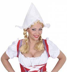 Carnavalsartikelen: Boerinnenkapje Hollands kaasmeisje - e-Carnavalskleding