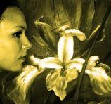 Deep Blue Iris painting by Yasmeen Olya