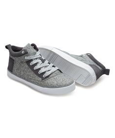 Look at this Gray & Dark Gray Suede Camila High-Top Sneaker on #zulily today!