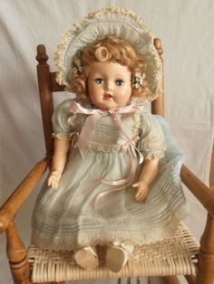 Vintage Ideal doll. I HAD her!!! My Aunt sent one to my sister and one to me!!! Mine was the blue one like her, and I guess My Sis's was pink!!! She sent them for Easter!