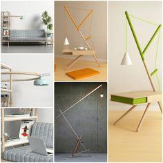 Minimalistischer Beistelltisch und andere Designer Möbel