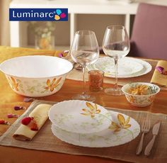 Orange flowers! For every occasion! Luminarc #glassware