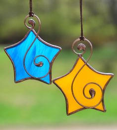 Stained glass star, star suncatcher, Christmas ornaments, Christmas tree decoration, Tiffany glass star, wire ornaments