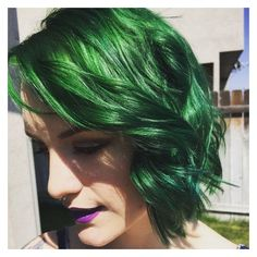 Phantom Green ❤ liked on Polyvore featuring hair