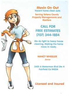 jenny cleaning services flyer cleaning pinterest