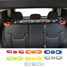 Newest Designs ABS Rear Seat Adjustment Decoration Cover for Jeep Renegade 2015 up 7 Colors for Choice