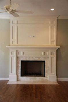 white craftsman fireplace - Google Search                                                                                                                                                     More