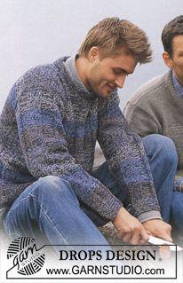 40 Ideas for knitting men sweater pattern drops design Baby Girl Sweaters, Baby Jumper, Crochet Baby Beanie, Baby Pullover, Sweater Knitting Patterns, Free Knitting, Crochet Patterns, Alpacas, Drops Design