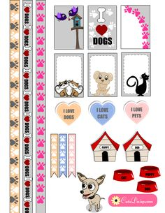 Here are some stickers on the request of a dear friend Holy Ellen Roby. She asked me to make some pet themed stickers and here they are. I have madeFree Printable Pets themed Stickers for Planners and also free printable Pet themedWashi tapes. I have made these stickers in two sizes, one for Happy Planner …