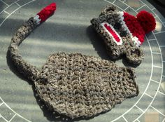 critter cape sock monkey newborn by LOOPseventyseven on Etsy, $20.00