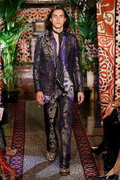 Roberto Cavalli Catwalk Fashion Show Womenswear Milan SS2017