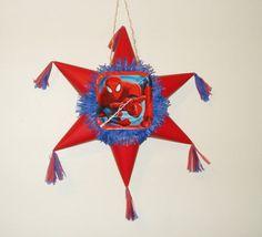 Spiderman Pinata. Star shaped Pinata  #Handmade #BirthdayChild