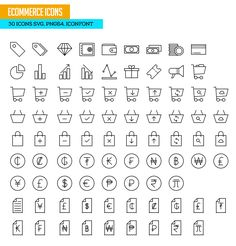 Ecommerce Icons SVG PNG Icon Font