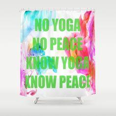 Peace Yoga Shower Curtain by azima – Baby Room 2020 Yoga, Kidsroom, Painting For Kids, Yin Yang, Baby Room, Pop Art, Meditation, Summer Kids, Peace