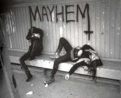 mayhem.  since Im stoopid I find drunk norwegian longhaired metal dudes somewhat totally irresistible.