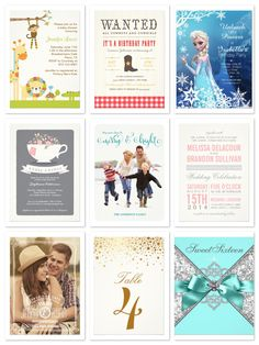 75% OFF invitations, holiday cards, and flat cards of all types - TODAY ONLY! (12.04.14)