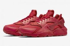 """82b0f3c982a Official Look at the Nike Air Huarache """"All Red"""" Nike Air Huarache Femme"""