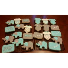Babyshower Cookes Elephant Cookies