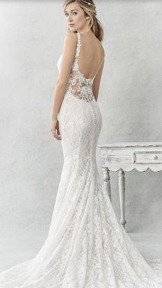 Featured Dress: Ella Rosa; Wedding dress idea.