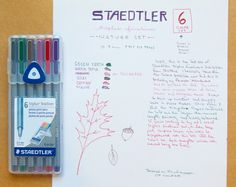 Staedtler nature colors triplus fineliner 6-colour set review