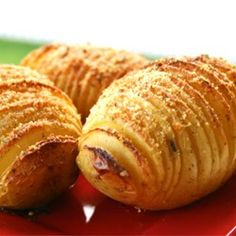 "Hasselback Potatoes | ""Always good, Always a pretty presentation! Makes your dinner special and well worth the time."""