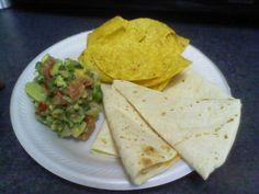 Quesadillas and Guacamole with pico de gallo