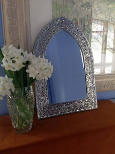 Arch tin mirror from Mexico by OnePinkDog on Etsy, $23.00