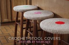 Free #crochet stool cover pattern from Mamachee