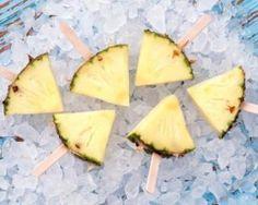 Sucettes brûle-graisse Croq'Kilos d'ananas glacé à la vanille…