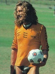 I think that Robert Plant is the only man in the world who could pull off the soccer-jersey-with-bikini-briefs look.