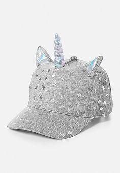 White Unicorn Hat with Rainbow Pompom Unisex White Fancy Dress Hat