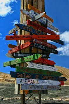 Señales. Lanzarote