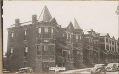 """The 1940 tax assessment photo showing Victorian era row houses on the SE corner of and Pennsylvania. The site today is a parking lot. Kansas City Downtown, Kansas City Missouri, Vintage Architecture, Urban Life, Parking Lot, Historical Photos, Pennsylvania, The Row, The Neighbourhood"