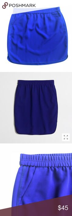 "J. Crew // Crepe Pencil Skirt with Curved Hem New With Tags. Poly. Sits at waist. 19"" long. Elastic waistband. On-seam pockets Import. Item C3596. J. Crew Skirts Pencil"