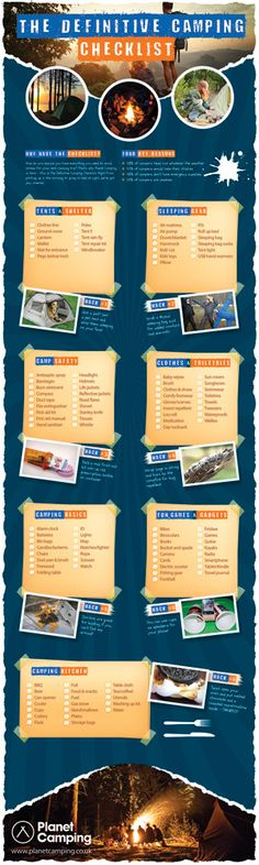 Definitive Camping Checklist - Printable List & Infographic