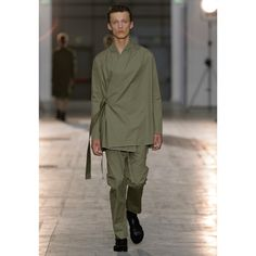 Damir Doma Men's SS16 Collection Available Online: Look 20 - Jahi Wrap Jacket, Polate Drawstrings Trousers And Fiesta Sandals. https://www.instagram.com/p/BDLpnUrp-32/?taken-by=damirdomaofficial