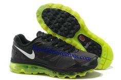 Mens Nike Air Max 2012 Black Volt Metallic Silver Shoes