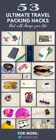 Never pack wrong again, or too much, too loose or just plain bad! Follow these 53 ultimate packing hacks for the best packed suitcase or backpack! Happy pinning!