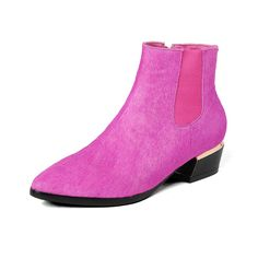 110.00$  Watch here - http://alikj9.worldwells.pw/go.php?t=32772256963 - Horsehair Women boots 3.5 cm heels Winter shoes Size 33-40 Luxury sexy ladies boots Ankle boots for women Rose red color Woman
