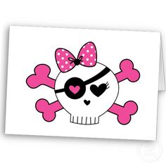 girls skull and bone | Girl Skull And Crossbones by thekiddiepatch
