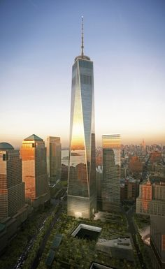 Updated rendering for One World Trade, NYC. August 2012