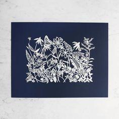 """Wildflowers for Dyeing"" | Original Cut-Paper Artwork"