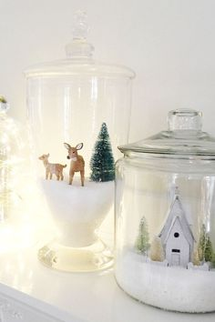 Christmas Village Jars - 2015 Year in Review - The Idea Room