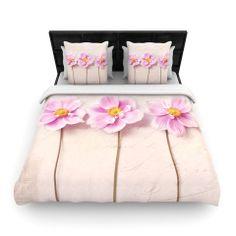 "Sylvia Cook ""Anemone Trio"" Fleece Duvet Cover | KESS InHouse  #homedecor #kessinhouse #flowers #anemone #duvet #bed"