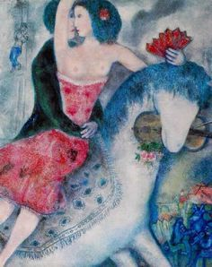 Marc Chagall「L'ecuyere」(1831)