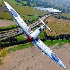 British Spitfire Mk IX MK356 in 601 Squadron markings.